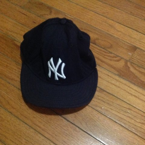 87a300e9f7193 Vintage and discontinued NY Yankee fitted with grey brim. 7 - Depop