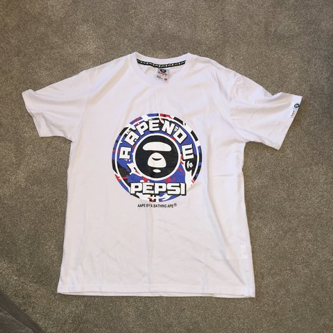 fbd5c8bb Bape X Pepsi. Never seen one of these for sale before. Size - Depop