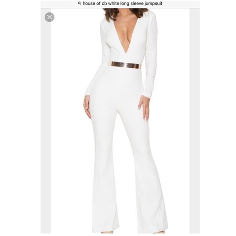 4db6412c0a6 HOUSE OF CB White flare jumpsuit. No longer available BRAND - Depop