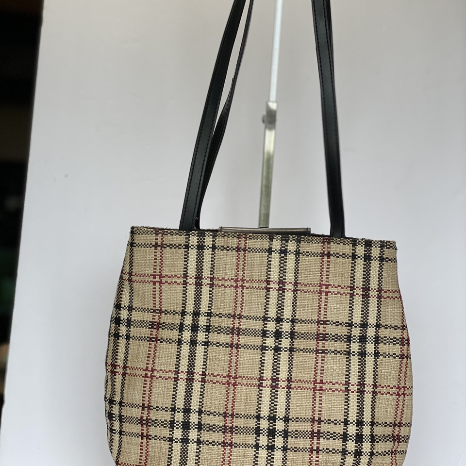 Nova check bag with leather trim by Croft &