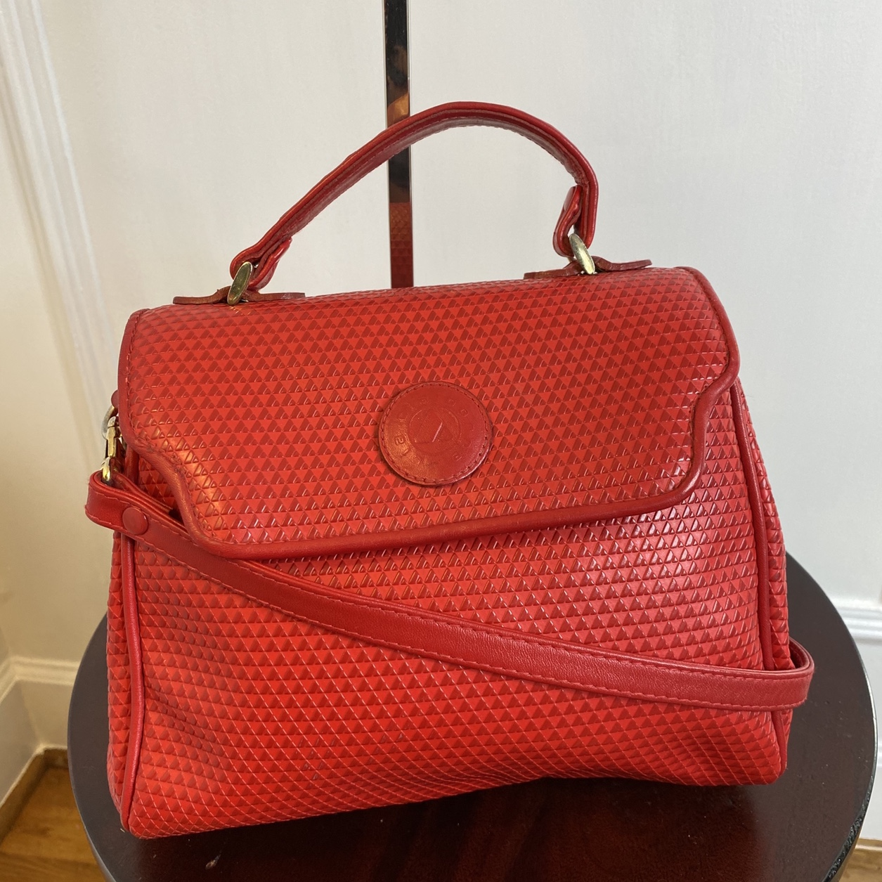 Red Liz Claiborne top handle bag