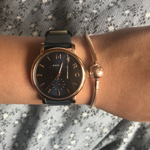 Marc By Marc Jacobs Baker Watch Navy Rose Gold With Depop