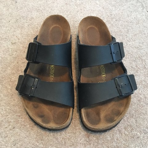 5a0221acac9e Black Arizona double strap birkenstocks size 37 uk 4 but fit - Depop