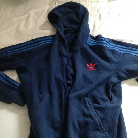 48aa9c3ca Zip-Up Adidas Originals Hoodie Jumper. Size Medium. 9/10. - Depop