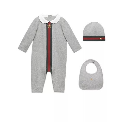 584a37140 Genuine Gucci baby set 0-3 months includes romper, hat and - Depop