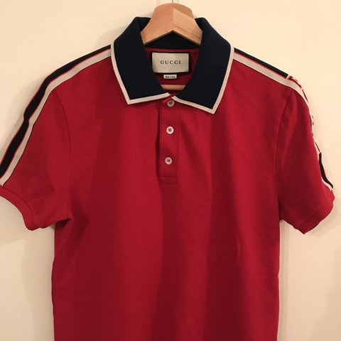 672c6964 Gucci Polo size large like new condition bought a week New - Depop