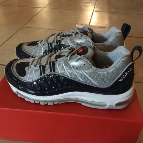 d91f2bce63 @vibewithjuan. 3 years ago. Temecula, CA, USA. SUPREME X NIKE AIR MAX 98  SIZE 10.5. BRAND NEW ...