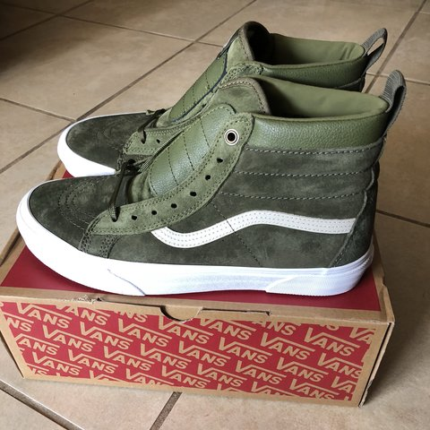 3400412c48 VANS SK8 HI MTE WINTER MOSS MILITARY GREEN SIZE 9 NEW WITH - Depop