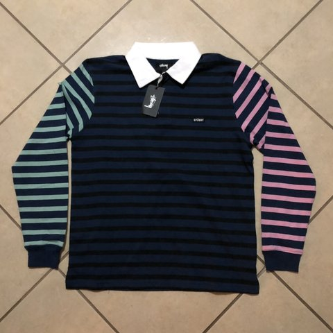 8583f209752 @vibewithjuan. 6 months ago. Wildomar, United States. STUSSY JONAH STRIPE  LONG SLEEVE LS RUGBY T SHIRT NAVY ...