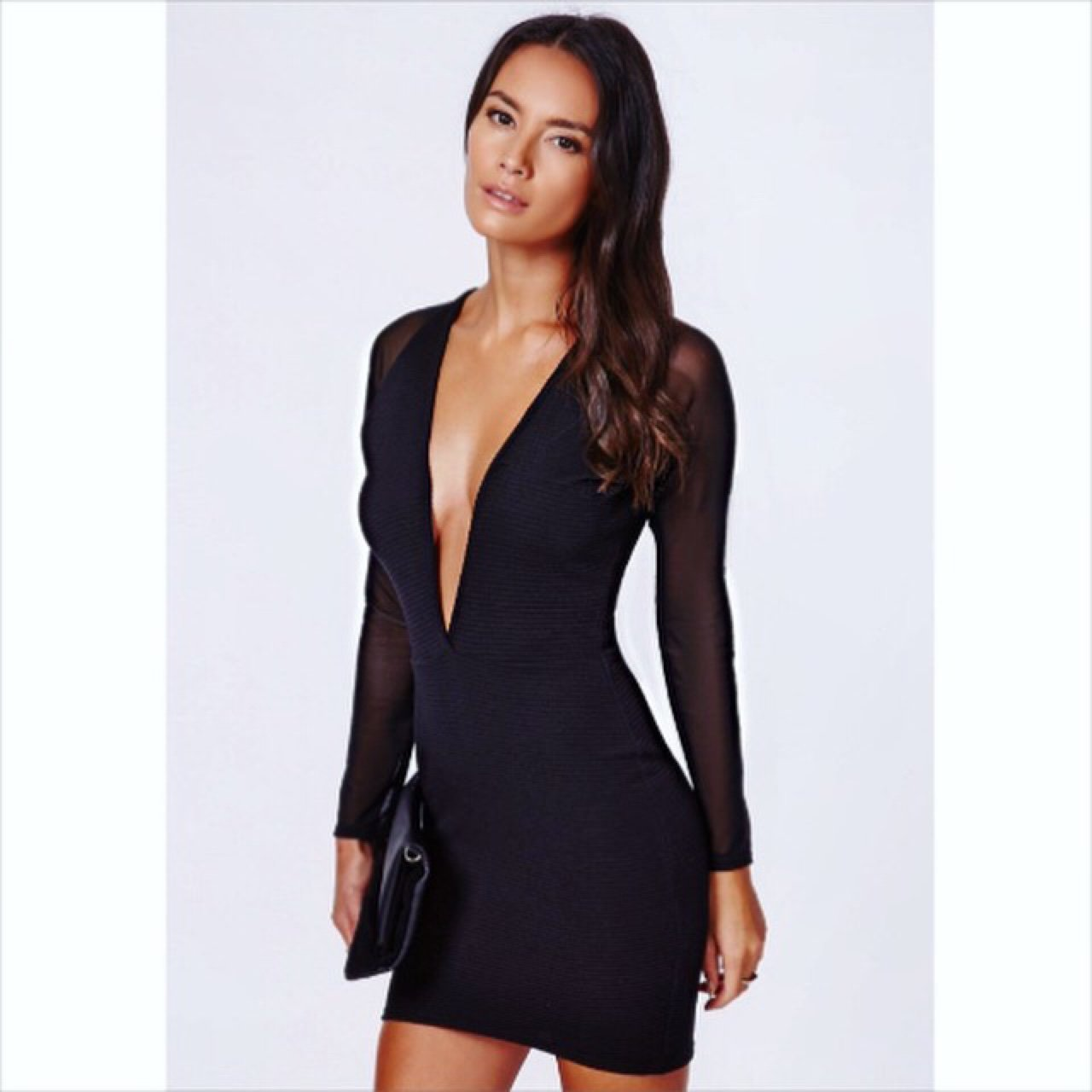 7d05a9031c2 Katiewallace87 Last Month Glasgow City Uk Black Dress With Sheer Sleeves