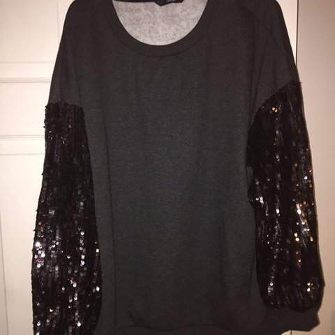 9d292d09 Sequin sleeve jumper Size 24 George Asda In good Worn - Depop