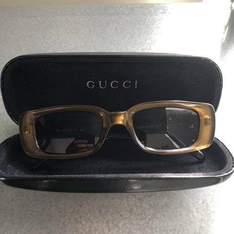 e3b1fb1079c Vintage Authentic Gucci Sunglasses Golden Brown GG are in no - Depop