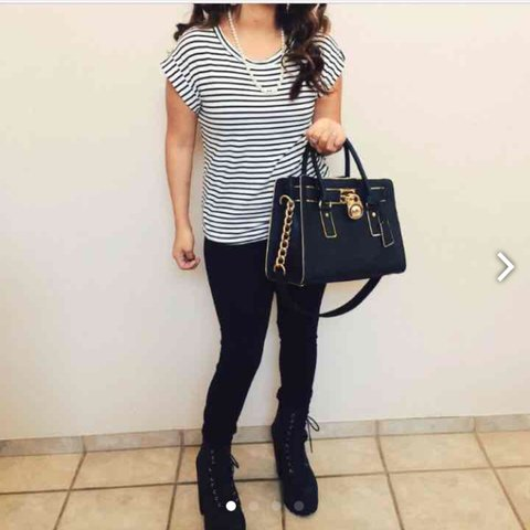 c2d634de8fe9c2 @lizzrojas. 3 years ago. Hollister, United States. Black and gold accent  michael kors ...