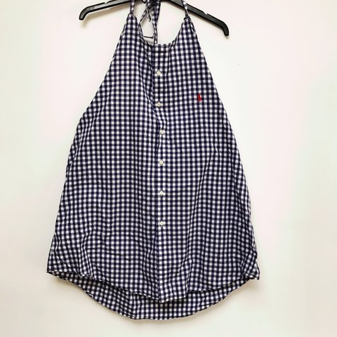 5e1a1b7e @kago. 2 years ago. Epsom, United Kingdom. Gorgeous reworked Ralph Lauren  dress // gingham ...