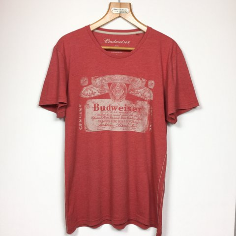 0605c203 @fivepound_a_pop. 2 years ago. London, UK. VINTAGE BUDWEISER T SHIRT SIZE  LARGE ...