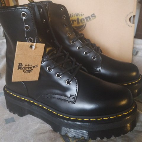 35ed15051c8 ON HOLD ------ Dr. Martens Jadon platform 8 eye boot in new - Depop