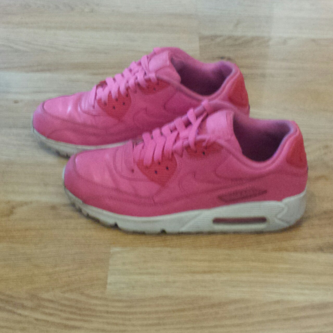 Neon pink Nike Air Max 90 trainers. Size 5 (EU 38). Depop