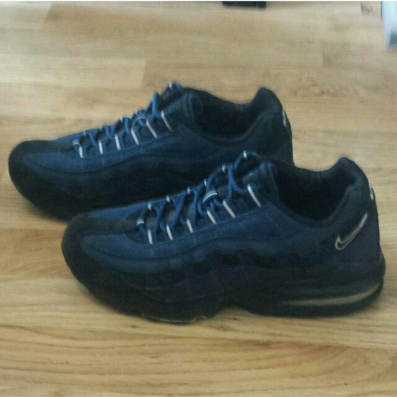 Blue suede Nike Air Max 95 trainers. Size 5.5 (EU 38.5). to - Depop be96138aa37f
