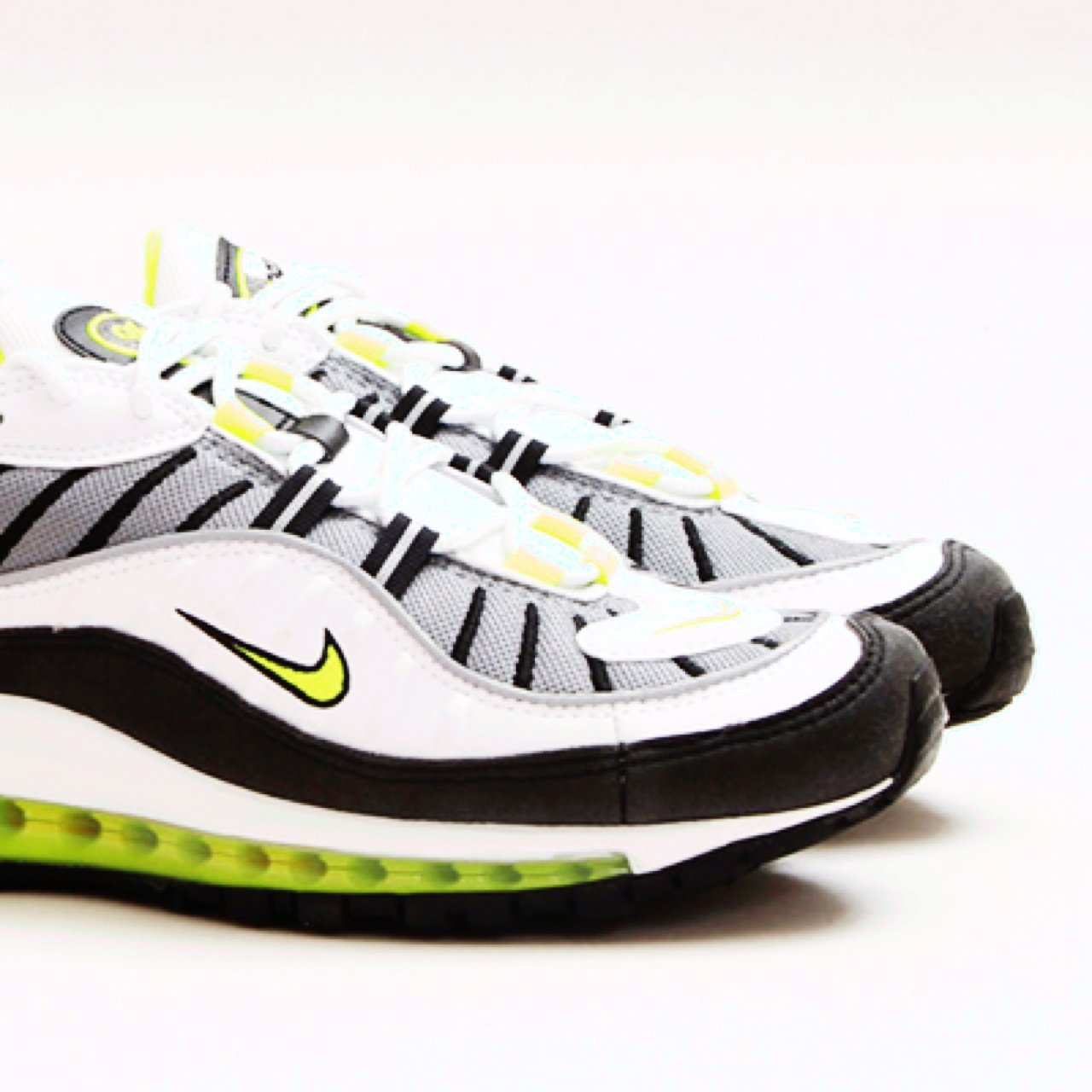 4daabca903 Nike air max 98 neon green RRP £200 open to offers - Depop