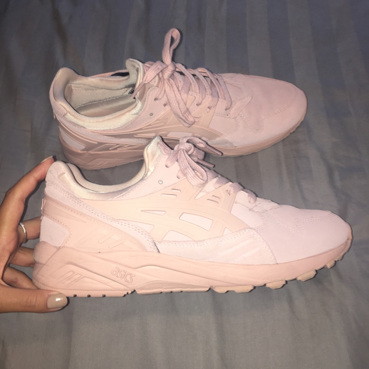 ASICS gel lyte trainers baby pink size