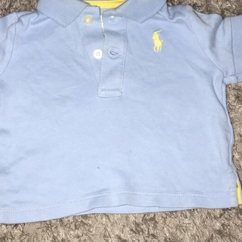 ff2bf0d5c @yolanda_x. 2 months ago. Leven, United Kingdom. Ralph Lauren Polo shirt.  Light blue. Size 3 months