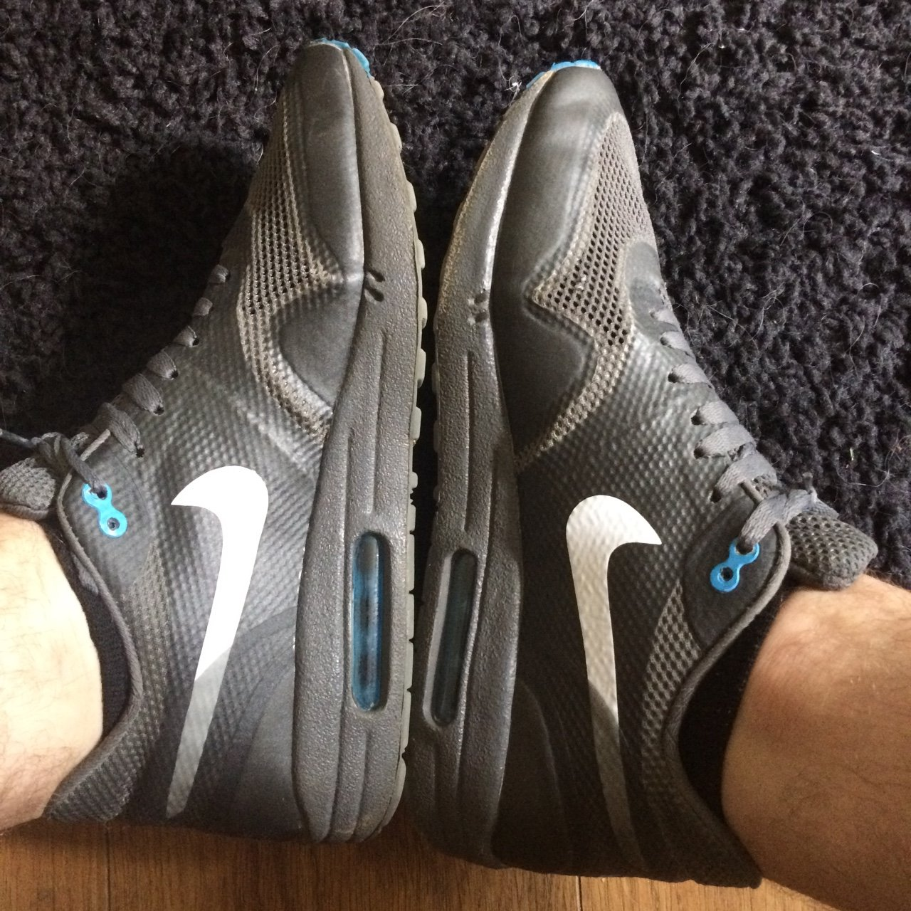 detailed look 6d324 e47ef PRICE DROP       Authentic grey Nike air max 1 hyperfuse. UK - Depop