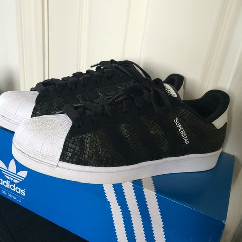 reputable site b5351 8e270 Adidas superstar Size 7. Snakeskin, black and white. Not of - Depop