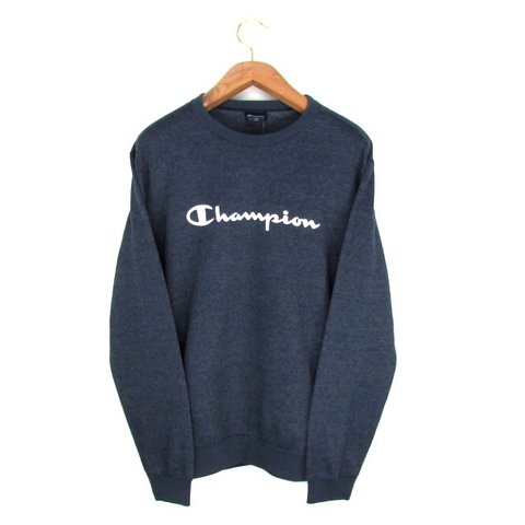 4a50e6bdedef Vintage Champion Sweatshirt in Navy Blue Champion New With - Depop