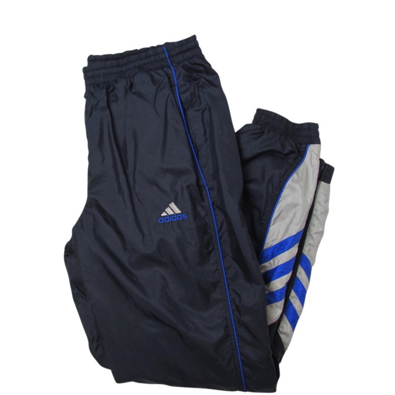 047f2598c938 Adidas Joggers in Navy Blue Vintage Adidas Striped Size - Depop