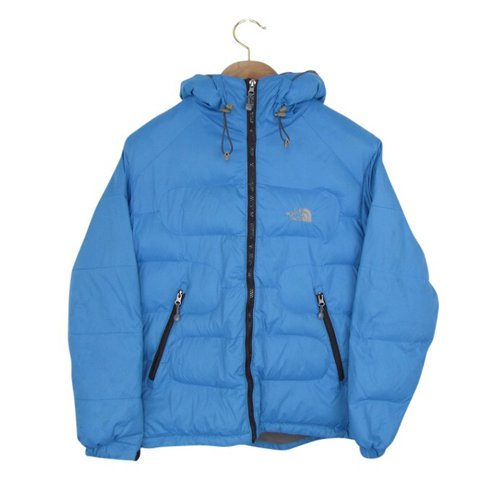 ... greece north face puffer jacket in blue north face jacket padded depop  dbff7 77811 90bcdbb31