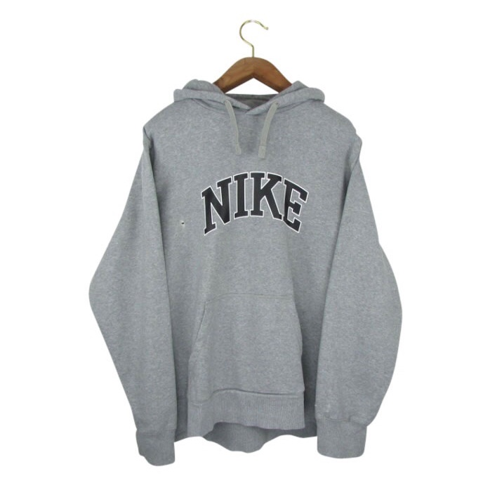 excellent quality many fashionable best sale Vintage Nike Hoodie in Grey Retro Nike Sweatshirt... - Depop