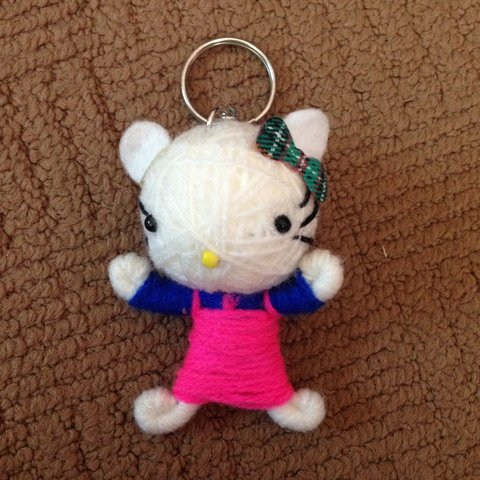88a20d994 Cute Hello Kitty key chain/keyring in the style of the doll - Depop