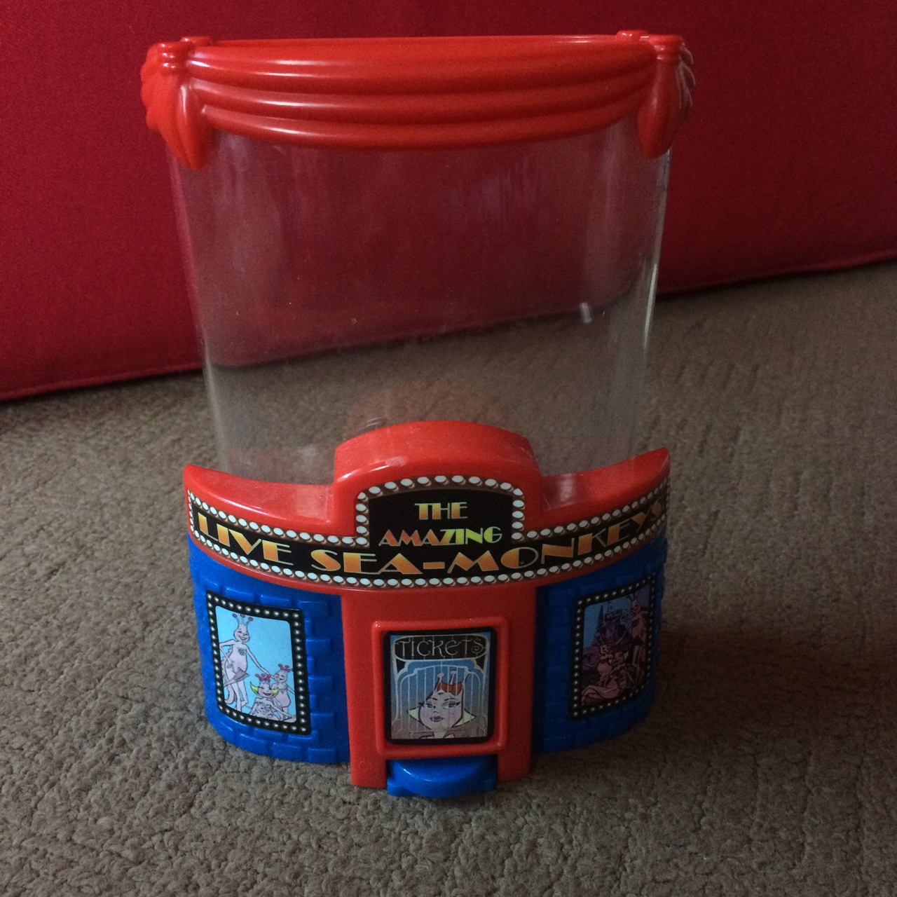 Brand new Sea Monkey tank with theatrical theme 'The