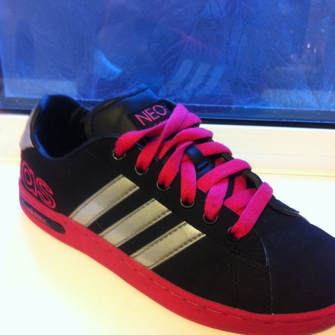 on sale e1115 02e08 😍 RARE Adidas NEO 💫 Black suede with Pink sole and Silver - Depop
