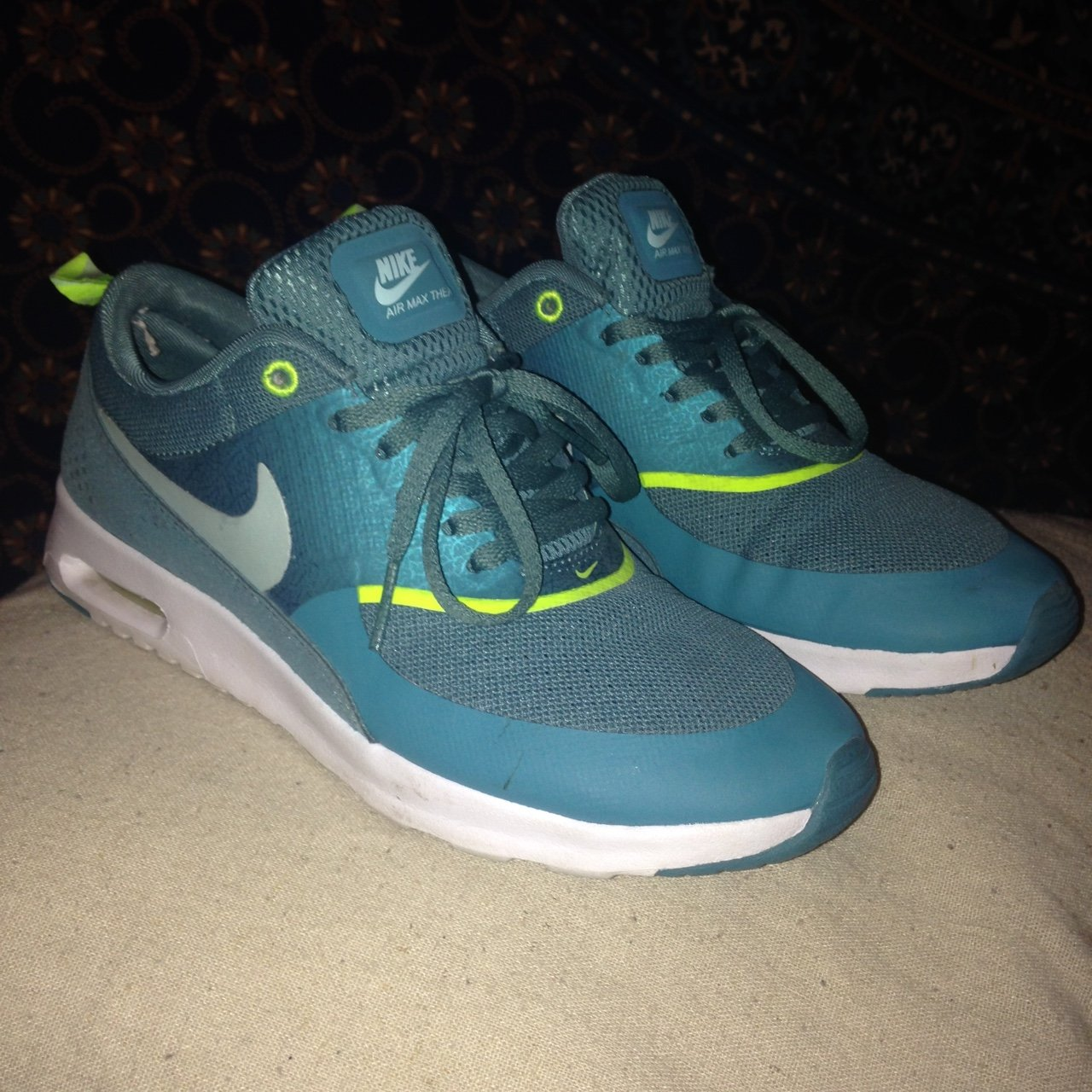PRICE DROP NEED GONE ✨ Nike air max thea size 5 - teal with - Depop 09380575e