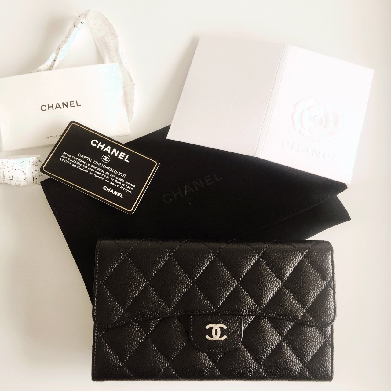 f1a405b514d6 ... Chanel flap wallet black caviar shw like new worn one time Depop  ninstifie 2 years ago ...