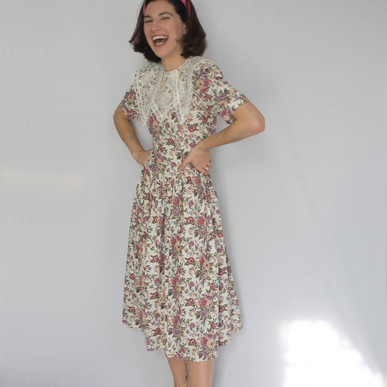Jessica McClintock gunne sax floral dress