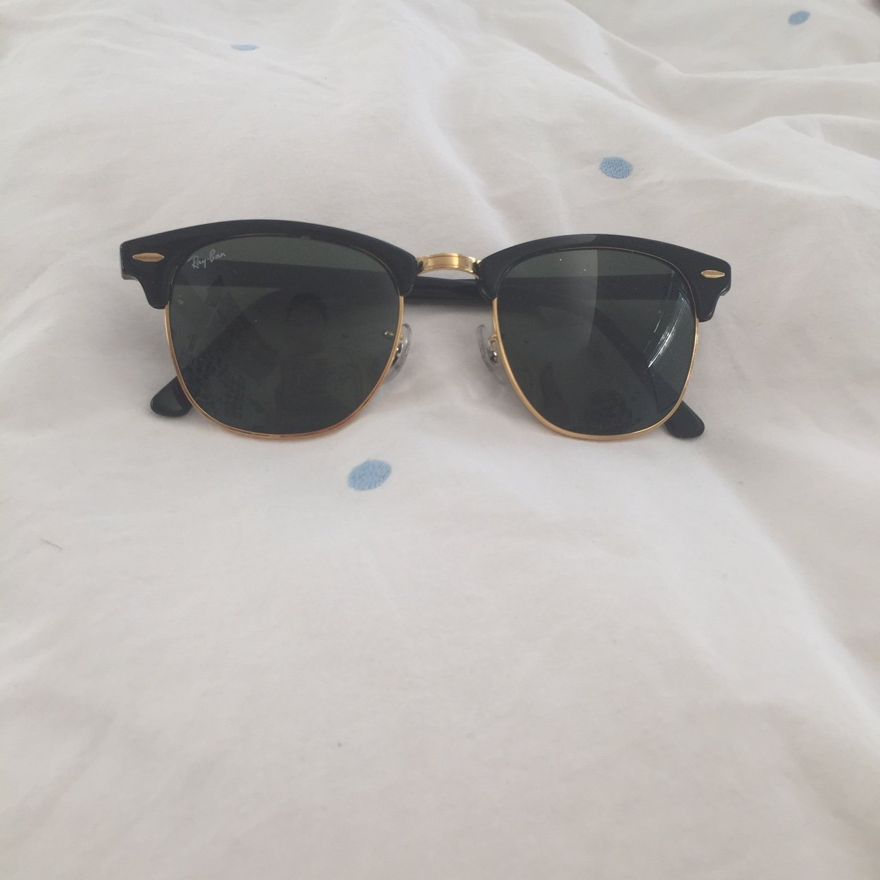 045498be7c Brand new and unscratched black and gold Rayban clubmaster a - Depop