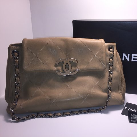fa48311a5090f1 @preloveddesignerluxuries. 4 years ago. Los Angeles, CA, USA. Chanel  Hampton bag. authenticity card included ...