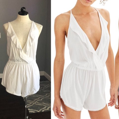 68fa1820efde Topshop Jersey Wrap coverup romper size US 8-10. A outfit is - Depop