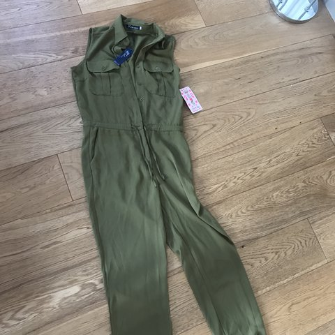 56d78ca6d3b Khaki boilersuit jumpsuit. New with tags. Purchased from an - Depop