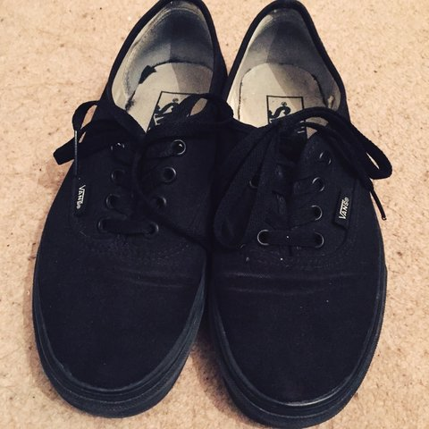 5a44aaf519 Worn classic black vans. Good condition still. Will give a I - Depop