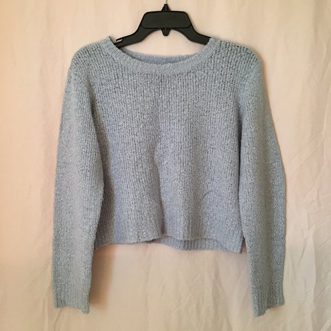 Light Blue Cropped Sweater From Hm Size Medium Depop