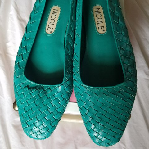 3423395d62 Cutest turquoise braided leather flats. Perfect for the a - Depop