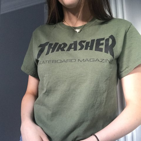 def4247d0c3c Olive green thrasher t-shirt. In great condition! 💚 - Depop