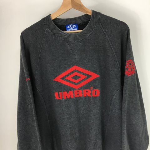 Men S Vintage Umbro Pro Training Jumper Sweatshirt Size Depop