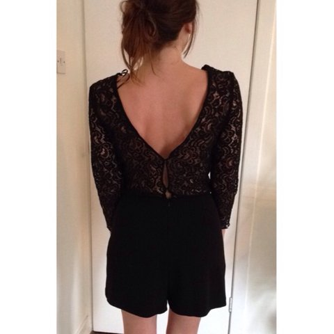 97715835e2a Zara size small playsuit. Lace top and skirt bottom. This a - Depop