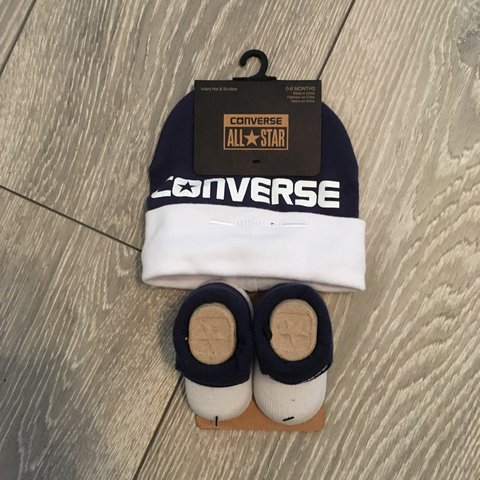 9cd48ab4211d Baby converse hat and socks. Size 0-6 months. Navy blue