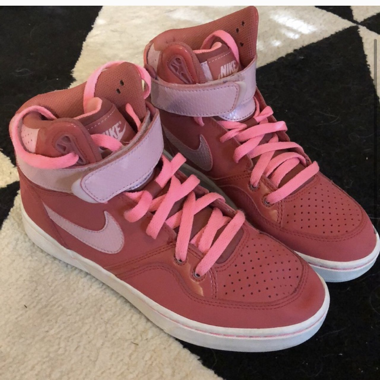 pink nike shoes high tops