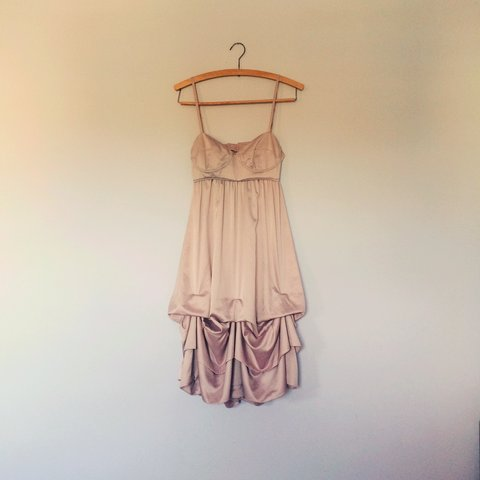 c5a3daebfb3 Reserved Topshop dress pure silk floaty prom dress from very - Depop